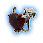 Horny Heart Upper Ear Stud