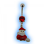 Christmas Belly Bar - Santa with Sack