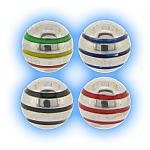 Stainless Steel Screw On Stripe Ball - 1.2mm (16g)