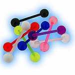 Set of 8 Acrylic Ball Tongue Bars
