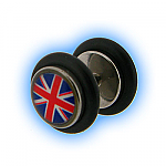 Union Jack Design Fake Plain Ear Stretching Plug
