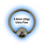 0.8mm (20g) Stainless Steel Micro Ball Closure Ring