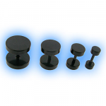Black PVD Steel Fake Ear Plug