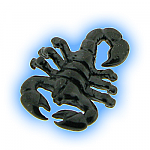 Black PVD Screw On Scorpion  - 1.6mm (14g)