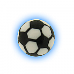 Spare Body Jewellery Ball - 1.6mm (14g) Acrylic Football