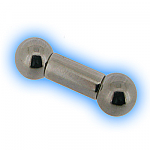 Internally Threaded Large Gauge Straight Barbell - Steel