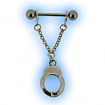 Silver Handcuffs Nipple Shield