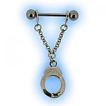 Silver Handcuffs Nipple Shield