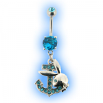 Playboy Jewelled Anchor Belly Bar