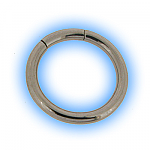 Surgical Steel Large Gauge Segment Ring