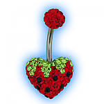 Strawberry disco heart belly bar