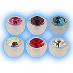 BioFlex Jewelled Ball - Push Fit 1.6mm (14g)