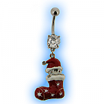 Christmas Belly Bar - Stocking with Stars