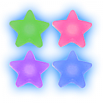 Silicone Stars - Tongue Bar Accessory