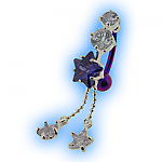 Elegance Belly Bar - Purple Reverse Britney Star Dangle