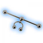 Unusual Ear Scaffold Piercing Barbell Steel with CBB