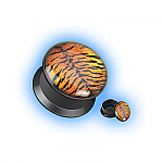 Acrylic Ear Plug Screw Front - Tiger Print