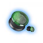 Acrylic Ear Plug Screw Front - Alligator