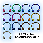 Titanium Circular Barbell With Balls - CBB 1.2mm (16 gauge)