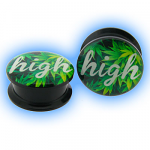 Acrylic Screw Plug Weed Cannabis High