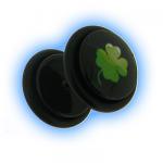 Acrylic Fake Ear Plug - Shamrock