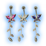 Elegance Belly Bar - Classic Butterfly Dangly