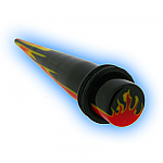 Acrylic Ear Stretching Taper Expander Flames
