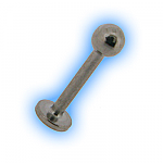 Stainless Steel Labret Stud & Ball - 1.6mm (14G)