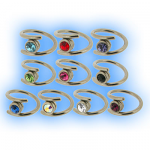 1.2mm (16g) Steel Jewelled Crossover Gripper Ring
