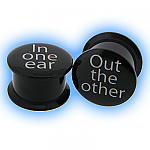 Acrylic Stash Plug Set - In one ear, out the other