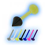 Bioplast 1.2mm (16G) Labret Black PVD Cone Stud