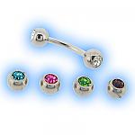 Interchangeable jewelled Eyebrow Bar set