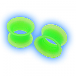 Neon Green Flexible Silicone Eyelet Flesh Tunnel
