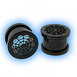 Blackline Steel Screw Ear Tunnel - Spiders Web
