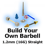 Build Your Own Straight Barbell 1.2mm (16G)