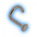 Titanium Flat Disc Bent Nose Stud